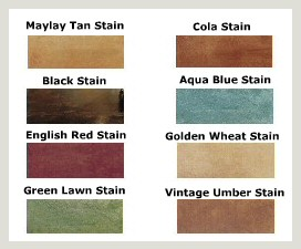 Stained Concrete Color Chart Picture, Photo, Arkansas