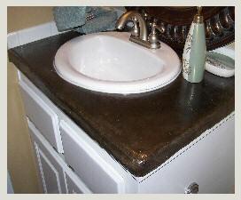 Concrete Bathroom Countertops Npowdersink Bathroom Countertops