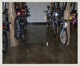 Stained Concrete Bike Shop