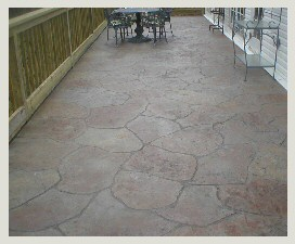 Stamped Concrete Small Rocks