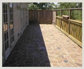 Stenciled Concrete Patio, Stenciled Concrete Patio Arkansas ...